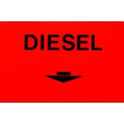Scritta adesiva fluorescente Diesel