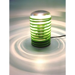 Lampada a spirale con lampada cromata