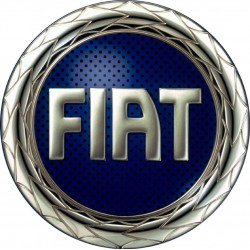 Targhetta cromata cofano Fiat