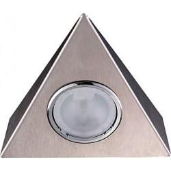 Set 3 faretti alogeni 20W. triangolari inox