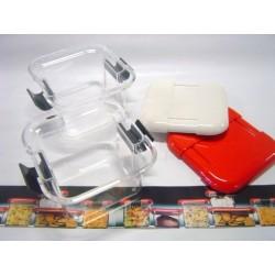 Contenitore plexiglass basso Rosso