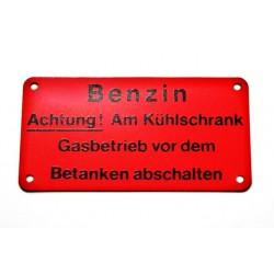Targhetta BENZIN